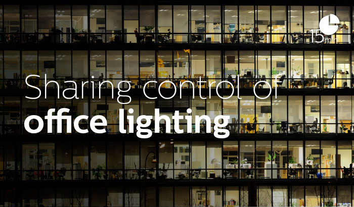 Sharing control of office lighting