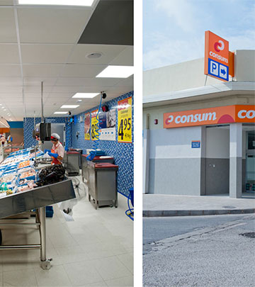 Philips Lighting illuminating fish and meat to show the freshness at Consum Supermarkets, Valencia
