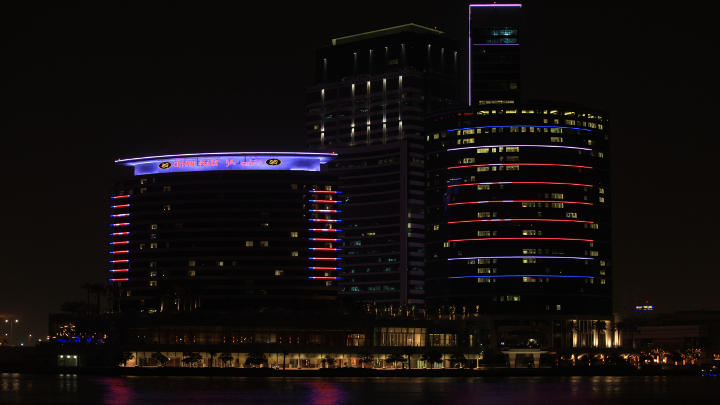 The appearance of Dubai Hotels improved with LED I‐Color Accent tubes by Philips Lighting providing an eye-catching view for façade