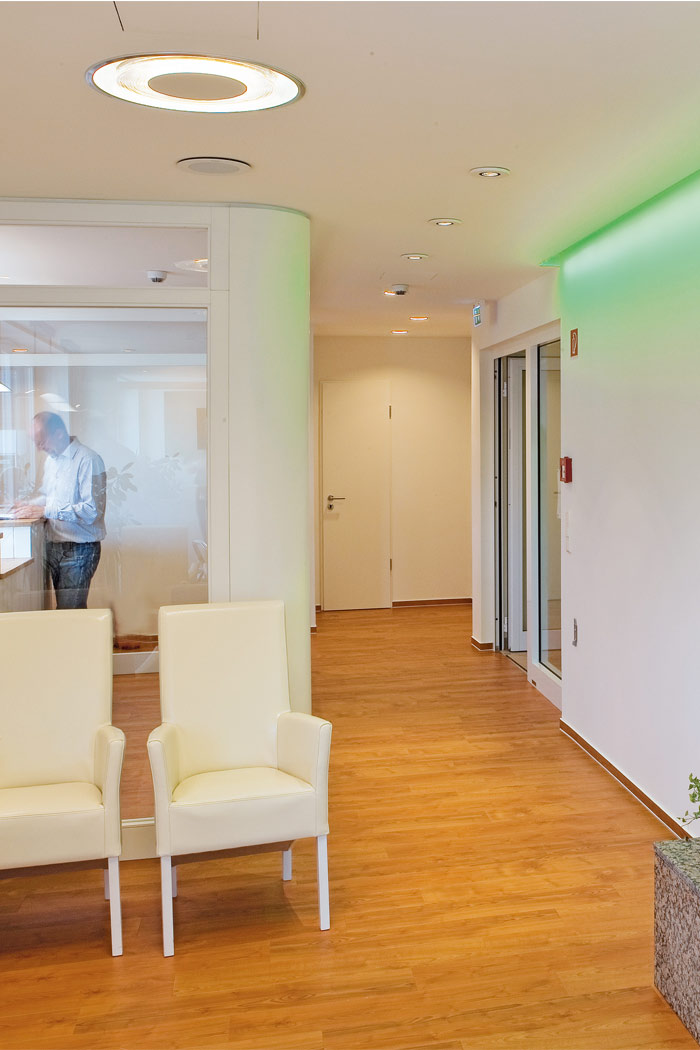Reception of South Operating Centre illuminated by Philips Lighting