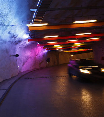 Philips car parking lighting implements indirect lighting in the P-Hämppi parking structure