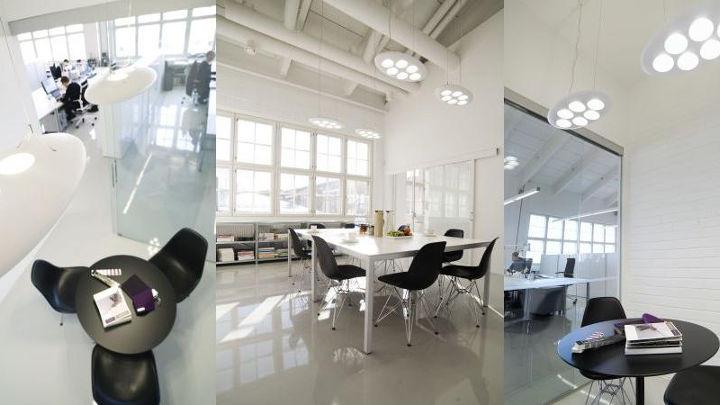 philips 39 modern office lighting illuminates pentagon design 39 s offices