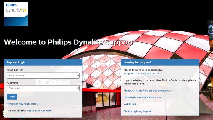 Philips Dynalite distributor site