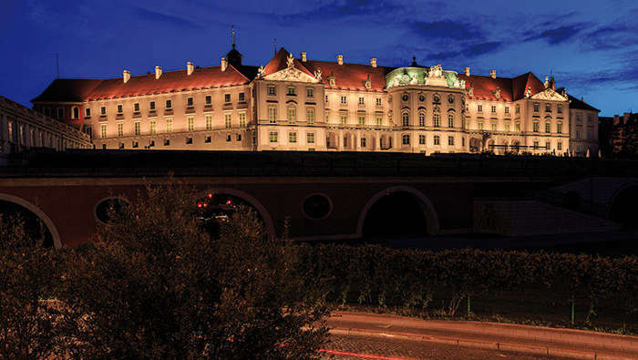 Philips lighting turns Royal Palace at Poland into an iconic landmark