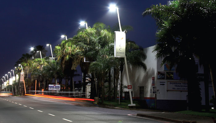 Street well-lit with Philips LED lighting