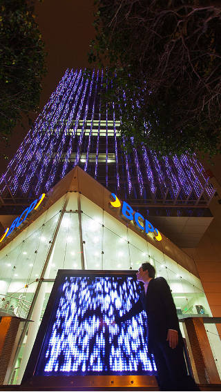 The BCP building illuminated by Philips LED lighting systems
