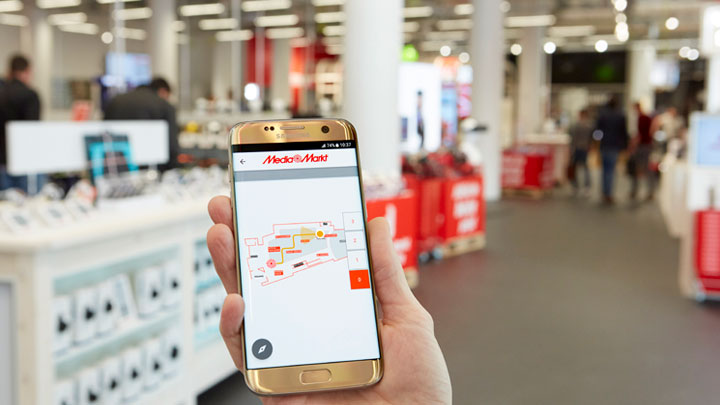 Philips Lighting Indoor Positioning Media Markt