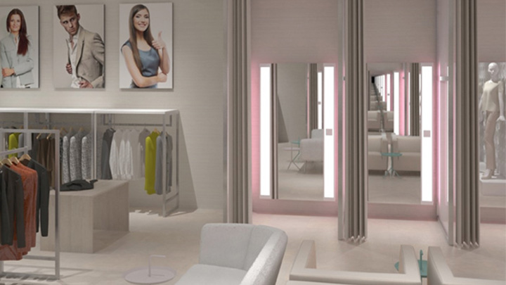 Philips Lighting's PerfectScene fitting room lighting can show shoppers how clothing will look in different environments