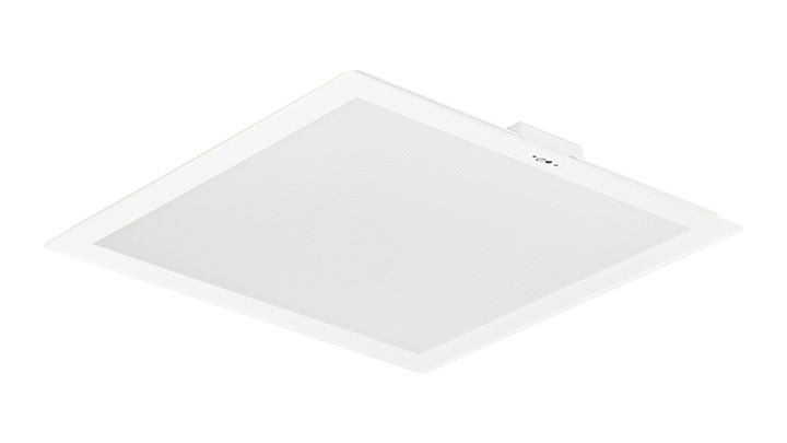 SlimBlend Square offers comfort-enhancing effects such as diffused lighting that blends into your ceiling architecture