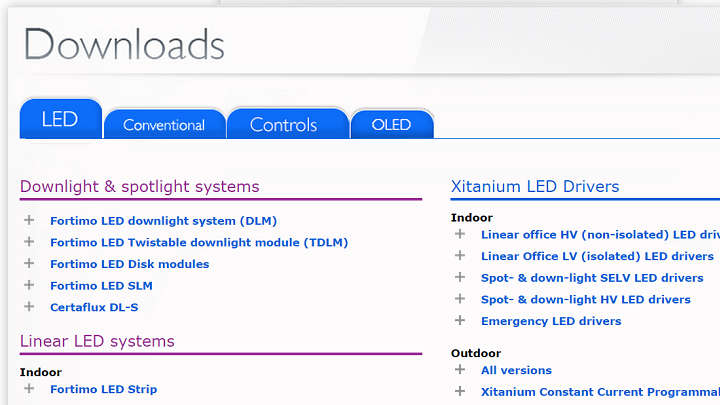 Philips OEM download section