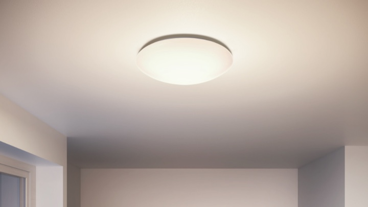 Ceiling light in a hallway